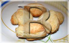 Слоеное творожное печенье