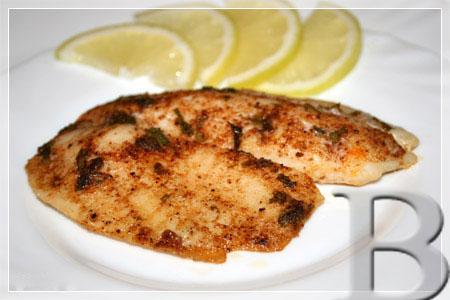 Рыба, запеченная с перцем и петрушкой