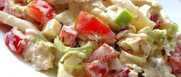 Салат из яблок и помидоров