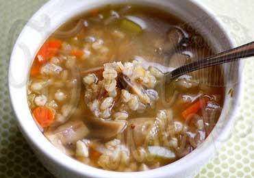 Суп с перловкой и грибами