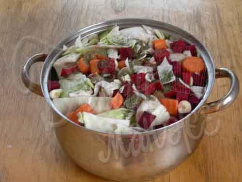 Овощи с рассолом