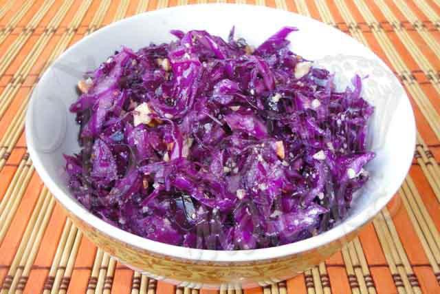Рецепт салата из свежей капусты красной